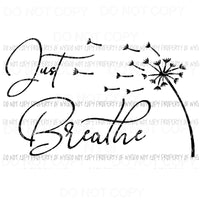 Just Breath #1 Sublimation transfers Heat Transfer