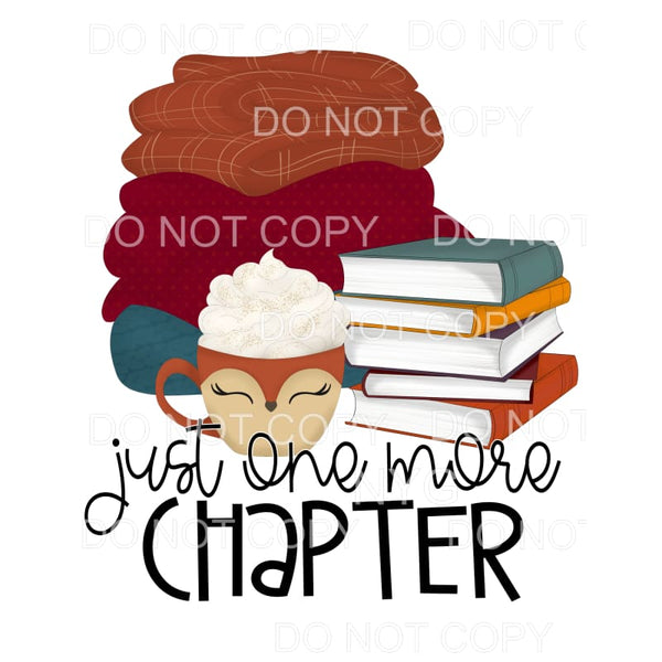 Just One More Chapters Books Blankets Hot Cocoa Sublimation