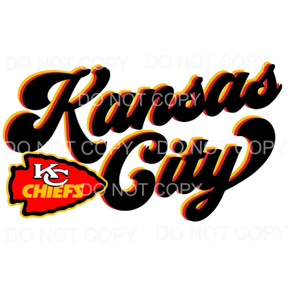 Kansas City KC Chiefs Retro Sublimation transfers - Heat