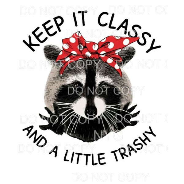 Keep It Classy And A Little Trashy Raccoon Red Polka Dot Bow