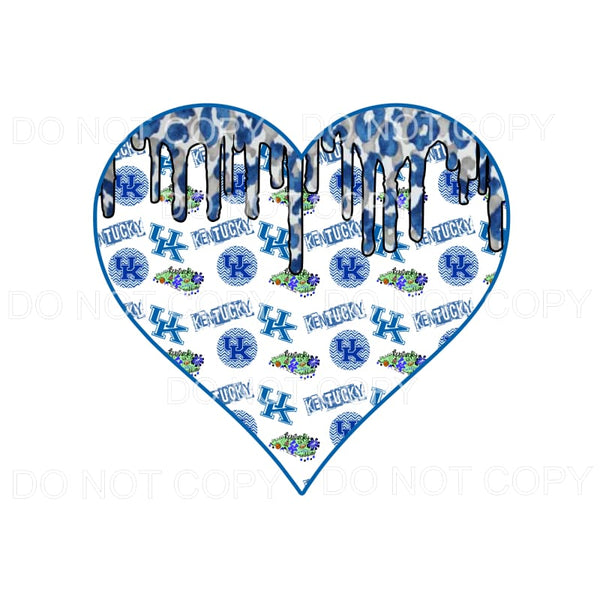 Kentucky UK Wildcats Paint Drip Heart #1 Sublimation