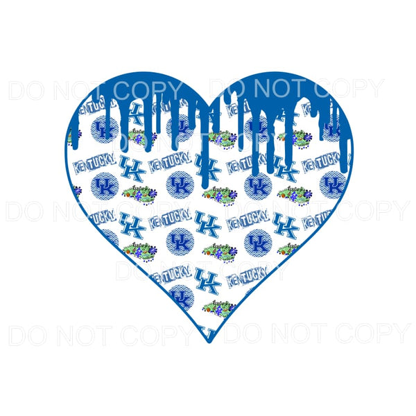 Kentucky UK Wildcats Paint Drip Heart #2 Sublimation