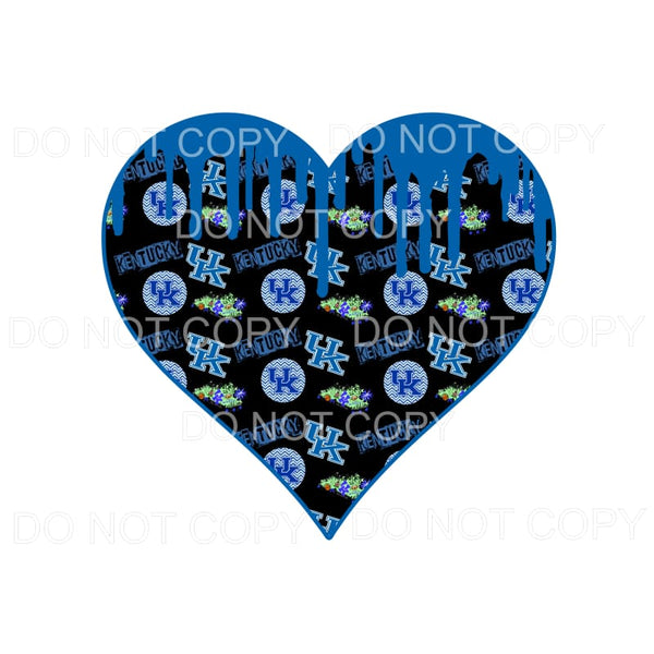 Kentucky UK Wildcats Paint Drip Heart #3 Sublimation