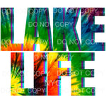 Lake Life Tie Dye Sublimation transfers - Heat Transfer