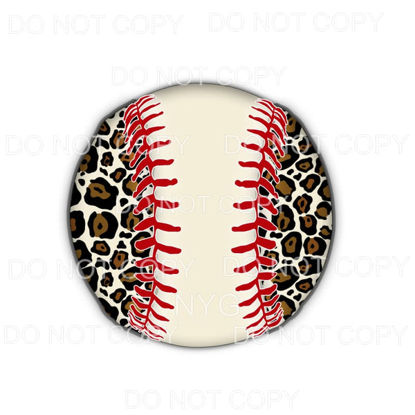 Leopard Baseball # 20 Sublimation transfers - Heat Transfer