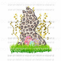 Leopard Bunny eggs Sublimation transfers Heat Transfer