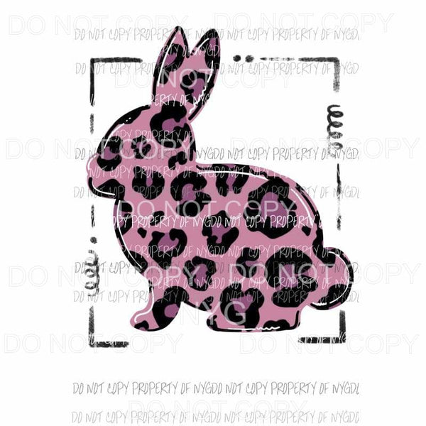 Leopard Bunny Framed # 4 Sublimation transfers Heat Transfer