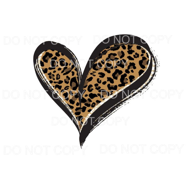 Leopard Heart #5 Sublimation transfers - Heat Transfer