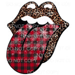Leopard Lips Red Buffalo Plaid Sublimation transfers - Heat