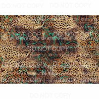 Leopard Sheet #13 Sublimation transfers 13 x 9 inches Heat Transfer