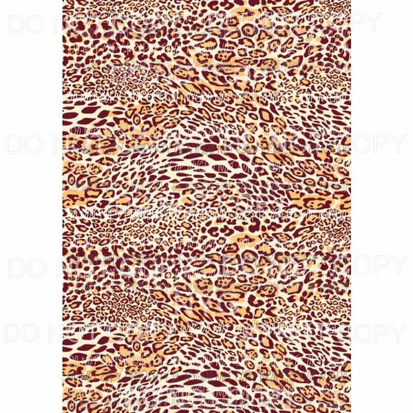 Leopard Sheet #15 Sublimation transfers 13 x 9 inches Heat Transfer
