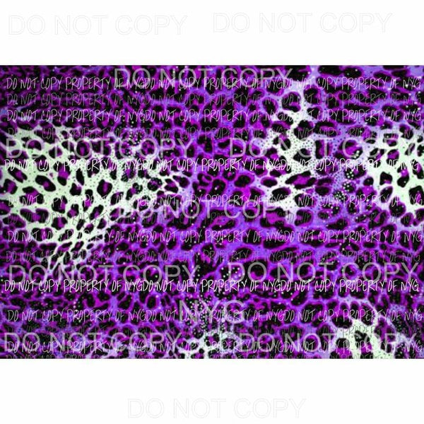 Leopard Sheet #17 Sublimation transfers 13 x 9 inches Heat Transfer