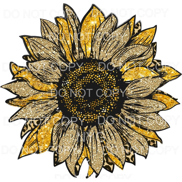 leopard sunflower # 4 Sublimation transfers - Heat Transfer