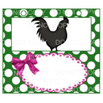Livestock Show Pen Sign Shiplap Green Polka Dots Pin Bow