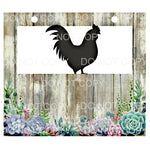 Livestock Show Pen Sign Shiplap Succulents Poultry Chicken