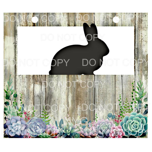 Livestock Show Pen Sign Shiplap Succulents Rabbit