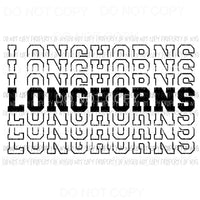 Longhorns mirrored Sublimation transfers Heat Transfer