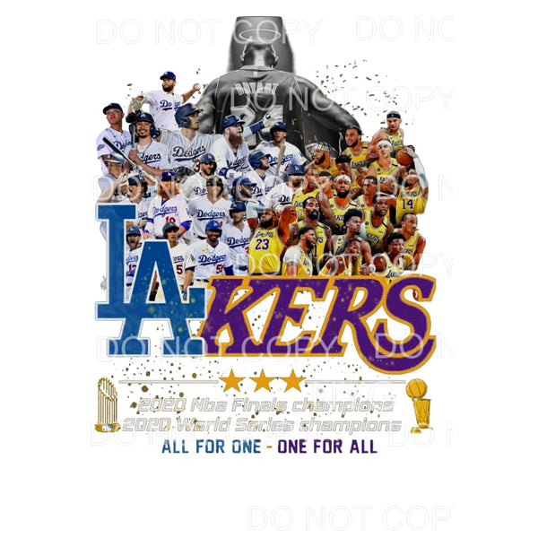 Los Angeles Dodgers and Los Angeles Lakers All For One