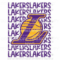Los Angeles Lakers stacked Sublimation transfers Heat Transfer