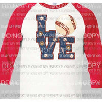 Love 2 baseball sublimation transfer Heat Transfer