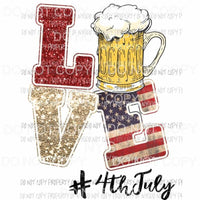 LOVE #4thofjuly Sublimation transfers Heat Transfer