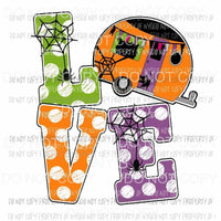 LOVE Halloween Camper # 2 fall Halloween Sublimation transfers Heat Transfer