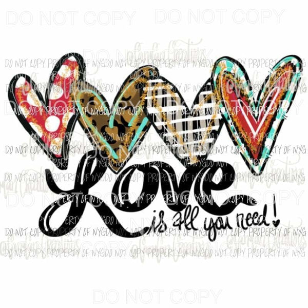love is all you need # 4 Sublimation transfers Heat Transfer