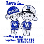 Love Is Rooting For The Wildcats Sublimation transfers -