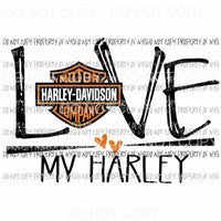 Love My Harley #2 emblem Sublimation transfers Heat Transfer