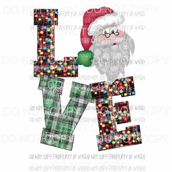 Love Santa # 1 Sublimation transfers Heat Transfer