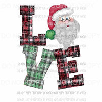 Love Santa # 2 Sublimation transfers Heat Transfer