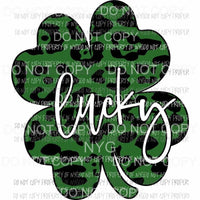 Lucky Leopard Shamrock #1 Sublimation transfers Heat Transfer