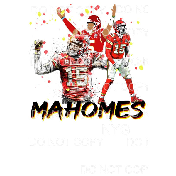 Mahomes chiefs kc # 10 Chiefs KC Sublimation transfers -