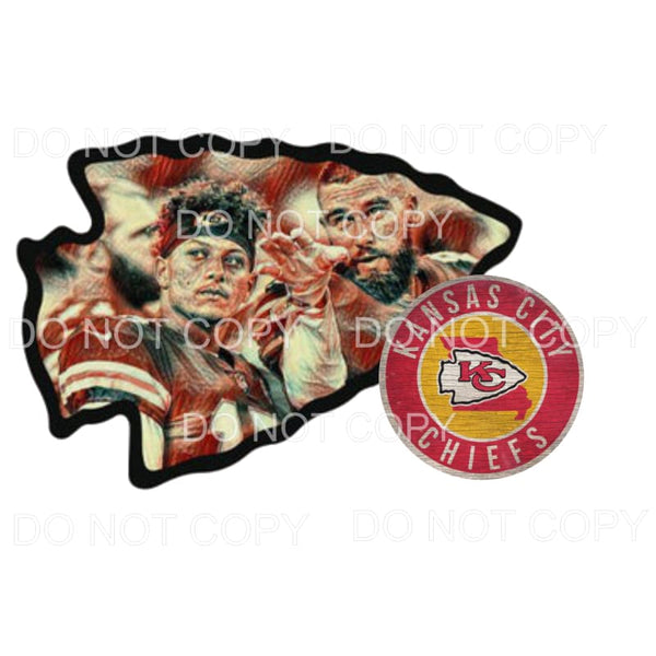 Mahomes Kelce Arrow head Chiefs KC Sublimation transfers -