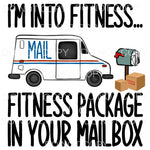 Mail Truck Fitness Package In Your Mailbox Sublimation