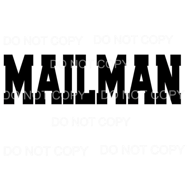 MAILMAN 2 Sublimation transfers - Heat Transfer