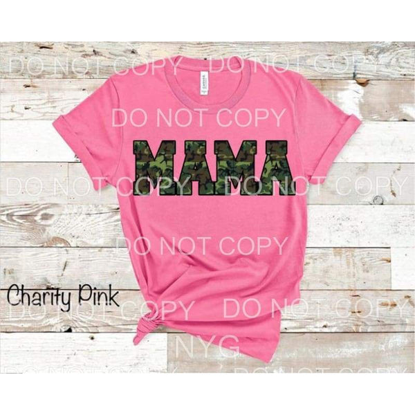 MAMA CAMO Full Color Screen Print can go on any fabric any