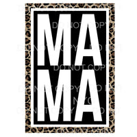 Mama Leopard Frame Sublimation transfers - Heat Transfer