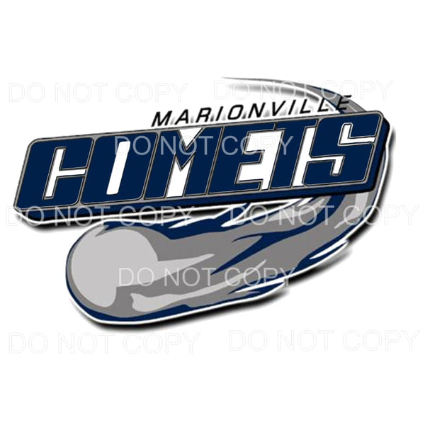 Marionville Comets Football #1 Sublimation transfers - Heat
