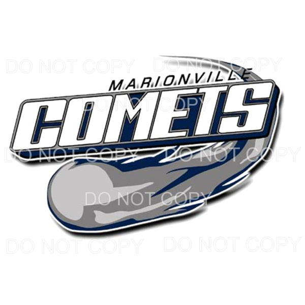 Marionville Comets Football #2 Sublimation transfers - Heat