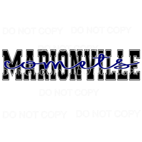 Marionville Comets Football Missouri Sublimation transfers -
