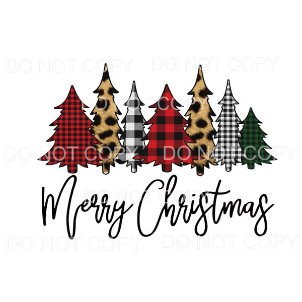 Merry Christmas Trees # 20 Sublimation transfers - Heat