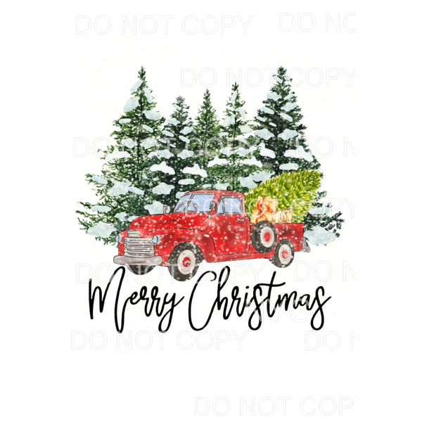 Merry Christmas Truck # 20 Sublimation transfers - Heat