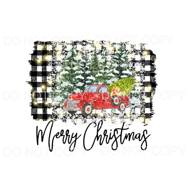 Merry Christmas Truck # 21 Sublimation transfers - Heat