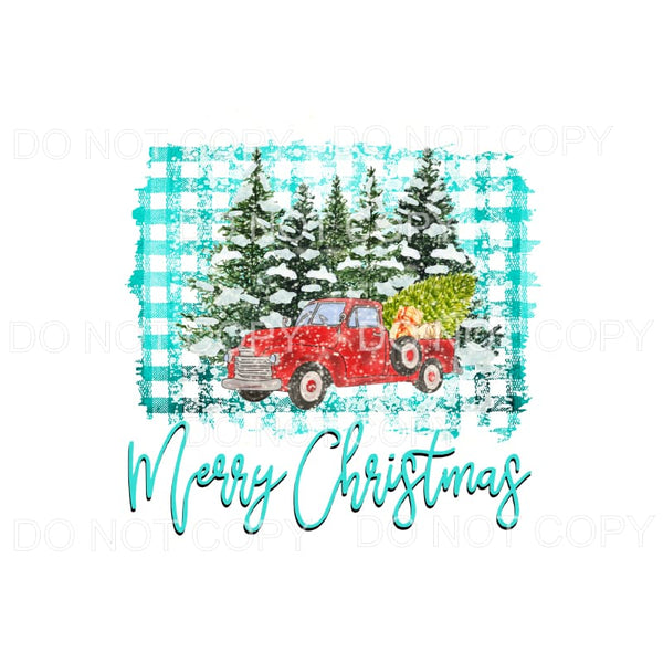 Merry Christmas Truck # 22 Sublimation transfers - Heat