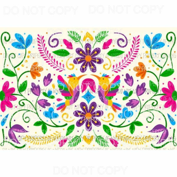 Mexican Sheet #3 Sublimation transfers 13 x 9 inches Heat Transfer