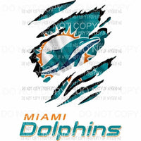 Miami Dolphins ripped design Sublimation transfers Heat Transfer