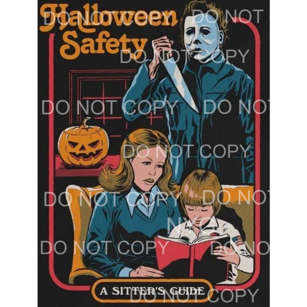 Mike Myers # 10 Halloween Safety Sublimation transfers -