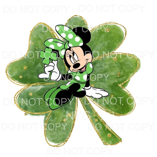 Minnie Mouse Clover # 3 St Patrick's Day Sublimation