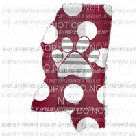 Mississippi State hand Drawn Sublimation transfers Heat Transfer